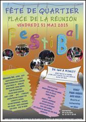 La fête du quartier Réunion - Père Lachaise.