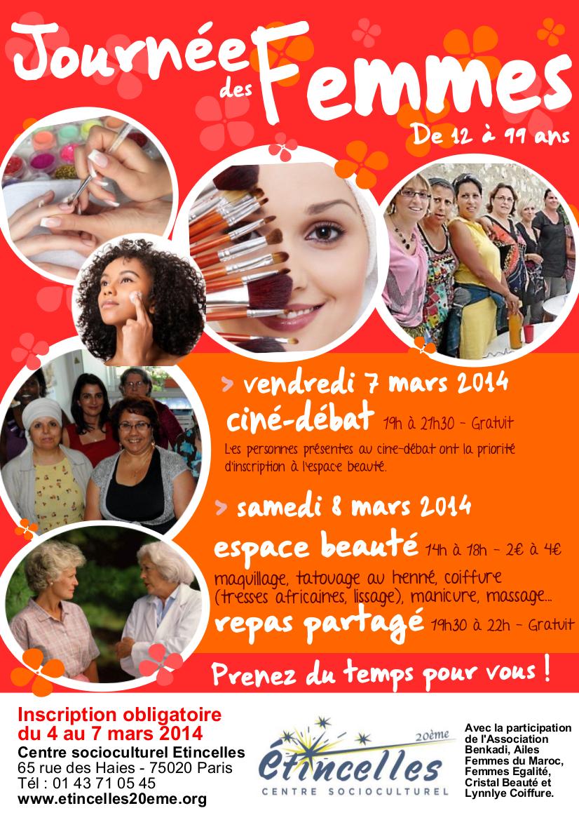 Affiche Pour La Journée De La Femme affiche journee de la femme - centre socioculturel etincellescentre